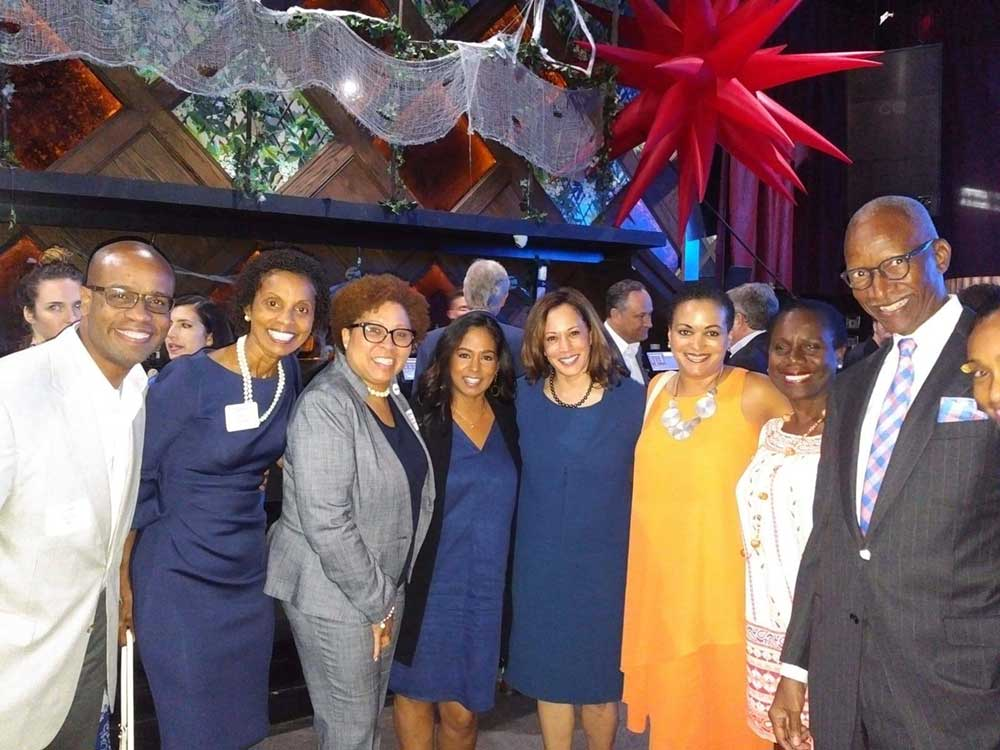 Kamala Harris with Jamaican-Americans